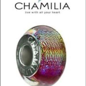 Chamilia Pink Spectrum Murano Glass Bead